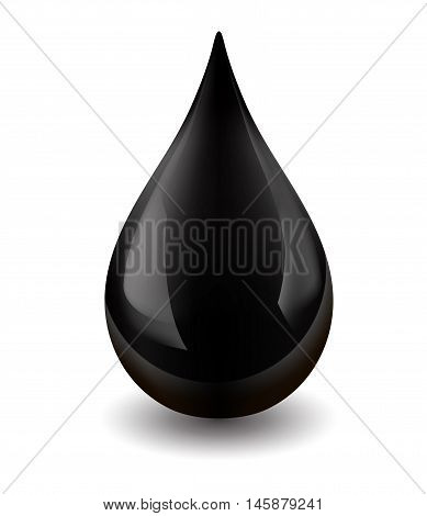 Oil drop isolated on white background. Icon of drop of crude oil EPS 10 contains transparency.