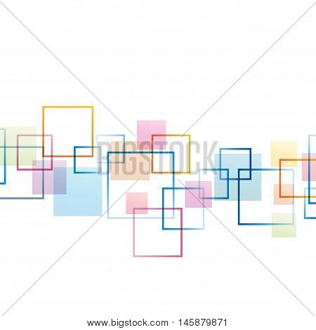 Vector concept of network, pixel in white background