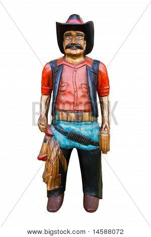 Wooden Old Cowboy