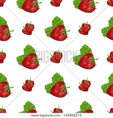 Strawberries seamless hand drawn vector pattern. summer food fruit strawberry seamless pattern. Sweet red healthy nature berry fresh strawberry pattern dessert organic graphic ripe.