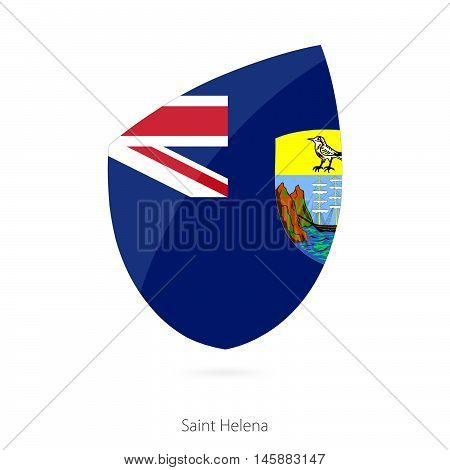 Flag of Saint Helena in the style of Rugby icon. Vector Illustration.