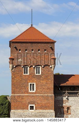 Wawel Royal Castle with Tower Thieves Krakow Poland.