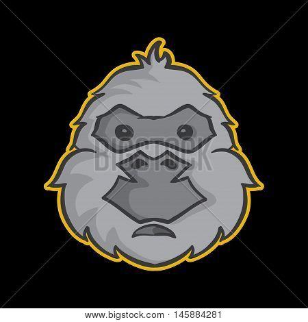 Gorilla Mascot, Gorilla Logo Concept, Gorilla Icon