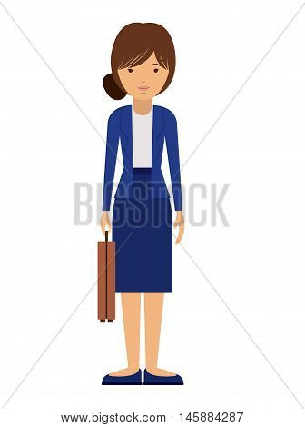 businesswoman and cartoon icon. profession worker and occupation theme. Isolated design. Vector illustration