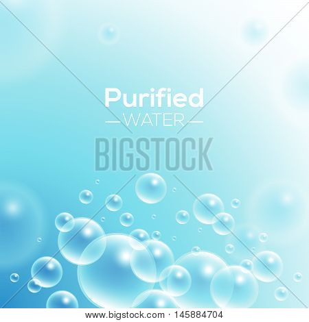 Clean Purified Water Vector Background