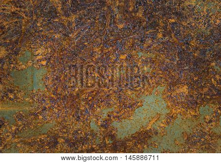 Rusted metal texture; grunge rust texture blur background