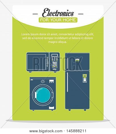 fridge washer and microwave icon. electronic appliances and supplies for your home theme.Colorful design. Vector illustration