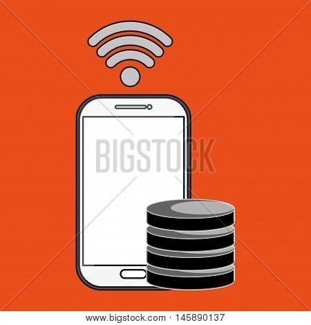 samrtphone wifi connected vector illustration eps 10