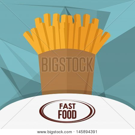 french fries icon. fast food menu american and restaurant theme. Colorful design. Vector illustration