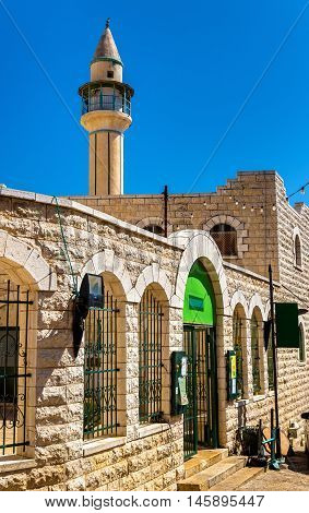 Al-Abiad or White Mosque in Nazareth, Israel. It is the oldest ottoman mosque in the city