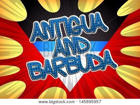 Antigua and Barbuda - Comic book style text.