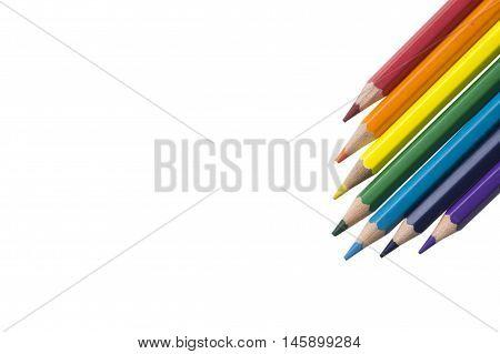pencil background inline rainbow color arrow down