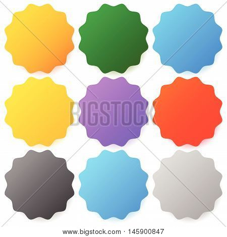 Button , Badge Backgrounds With Modern Smooth Colors