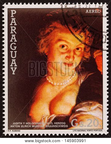 PARAGUAY - CIRCA 1987: A stamp printed in Paraguay from the
