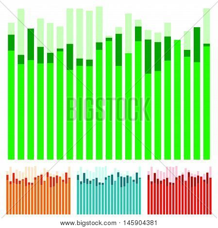 Eq, Equalizer With Overlapping Bars - Bar Chart, Bar Graph W/ Random Heights