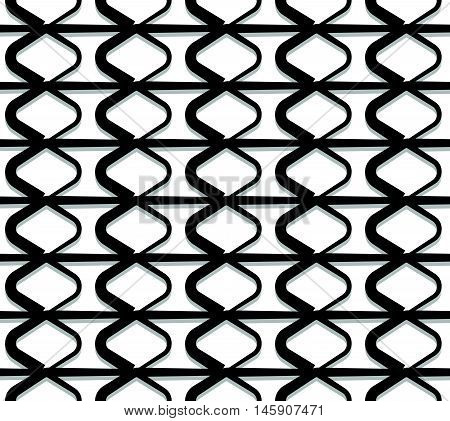 Grid, Mesh With Interlacing Lines. Repeatable Geometric Pattern.
