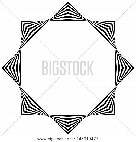Abstract Striped Geometric Element Isolated On White