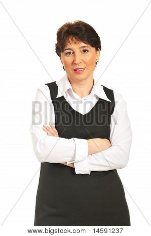 Mature Woman With Arms Folded