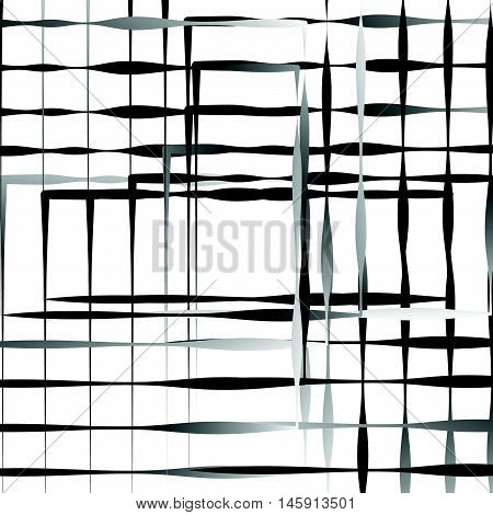 Geometric Abstract Illustration With Irregular Squares. Modern Art Illustration
