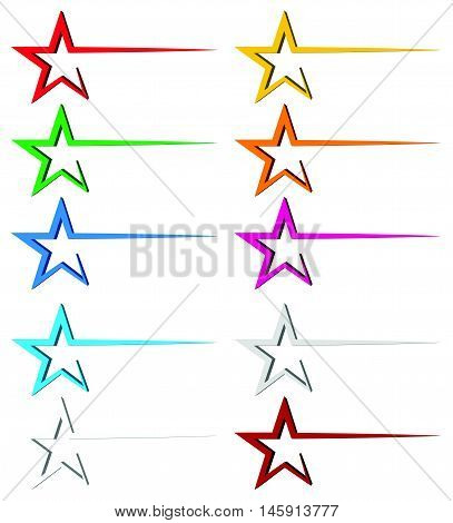 Star Decoration Element With Dynamic Line, Trail