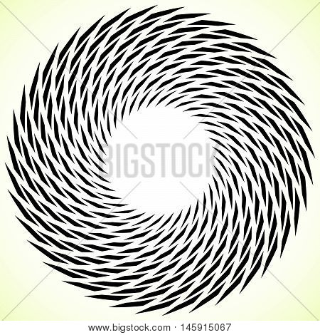 Geometric Spiral Element. Rotating, Spinning Abstract Decorative Illustration