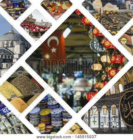 Collage Of Istanbul (turkey) Images - Travel Background (my Photos)