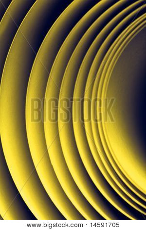 Yellow Colour Tones Macro Background Picture Pattern Of Curved Sheets Of Paper