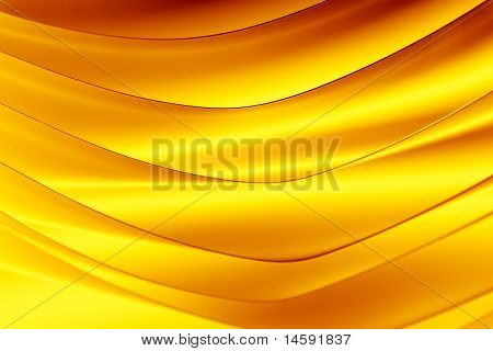Yellow And Orange Color Tones Macro Background Picture Pattern Of Curved Sheets Of Paper