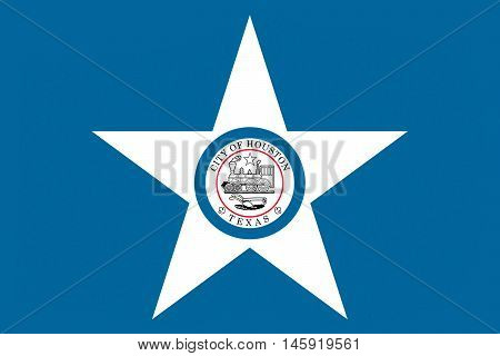 Flag of Houston city in Texas United States