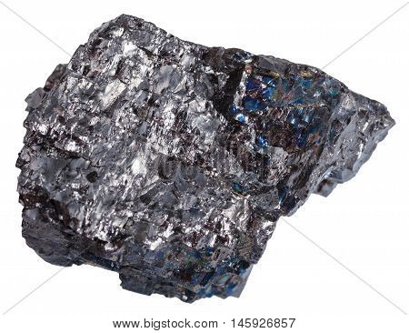 Stone Of Black Coal (anthracite) Isolated