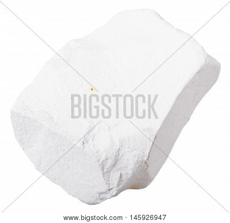 Piece Of Chalk Rock Isolated On White