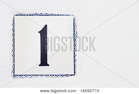 Spanish House Number One Wall Tile