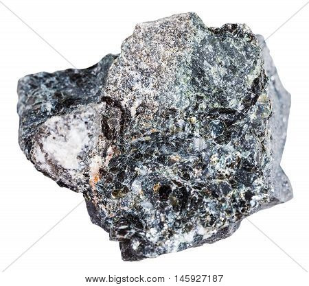 Stone Of Magnetite Ore Isolated On White