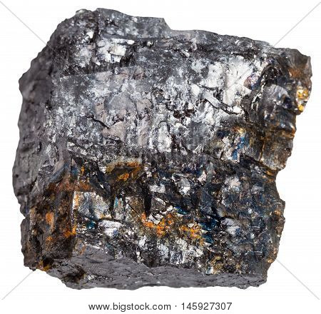 Black Coal (bituminous Coal) Mineral Isolated