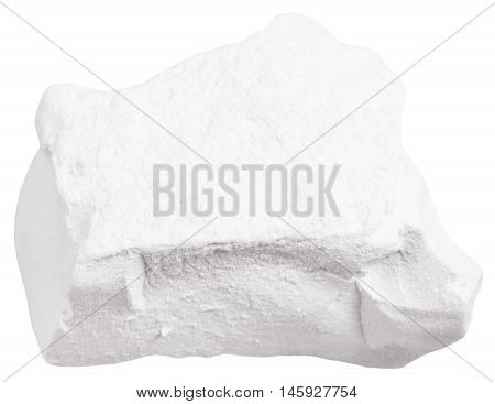 Natural Chalk Stone Isolated