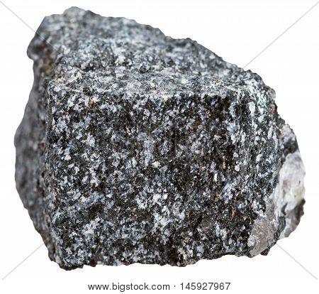Amphibolite Stone Isolated On White Background