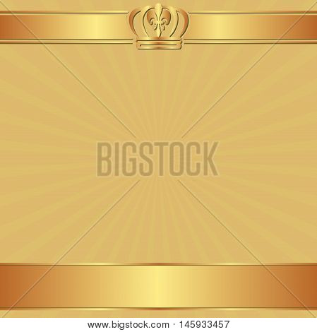 background with crown and copy space - vector illustration