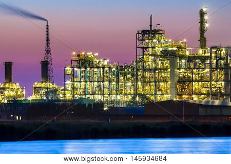 Vibrant Colored Industrial Chemical Area Detail