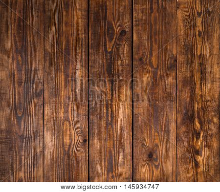 Old Wooden Surface With Cracks, Scratches, Swirls, Notch And Chips