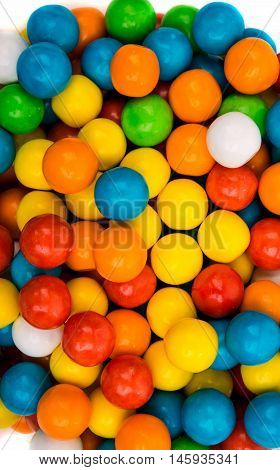 colored jelly beans gum on a white background