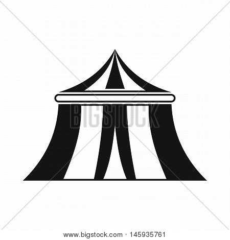 Circus tent icon in simple style isolated on white background vector illustration