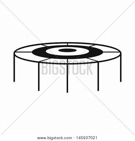 Trampoline icon in simple style isolated on white background vector illustration