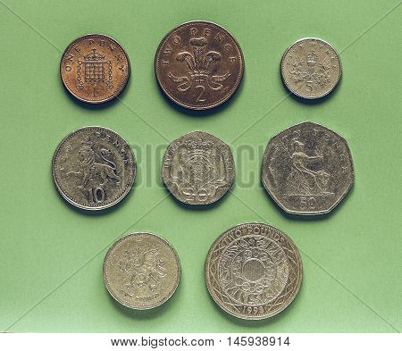 Vintage Gbp Pound Coins