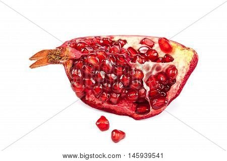 Pomegranate isolated on the a white background.