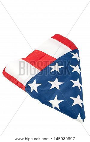 American flag isolated on the white background.