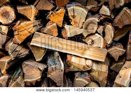fire-woods wall closeup - abstract background