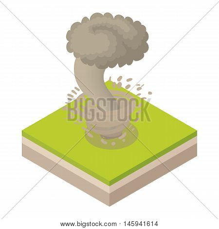 Tornado icon in cartoon style on a white background vector illustration