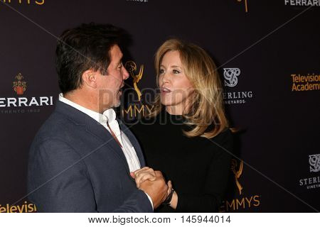 LOS ANGELES - AUG 22:  Benito Martinez, Felicity Huffman at the Television Academy's Performers Peer Group Celebration at the Montage Hotel on August 22, 2016 in Beverly Hills, CA