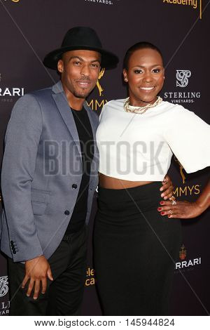LOS ANGELES - AUG 22:  Shamar Sanders, Natalie Whittle at the Television Academy's Performers Peer Group Celebration at the Montage Hotel on August 22, 2016 in Beverly Hills, CA