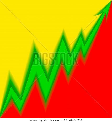 Up Arrow Stylized Lithuanian Flag Blur